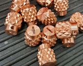 Lucky Dog COPPER Dragon-Back Switch Tip - Most aggressive knurled tele / guitar switch on the market!  Custom parts knobs