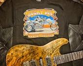 "Lucky Dog Custom Guitars ""Chopper"" Black T-shirt - custom guitar band music concert tee tshirt biker"
