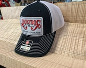 Lucky Dog Guitars black/white Deluxe Trucker Mesh Ball Cap Hat w/ structured crown - Regular size - USA old school vintage truck stop