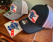 Lucky Dog Guitars Tennessee stars & stripes Trucker Hat with Red White blue patch Truckstop boots yee-yee  Outlaw vintage cowboy cap country