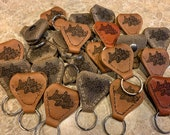 Lucky Dog Custom USA made handcrafted leather guitar pick pocket and keychain  ** Choose from 3 colors **
