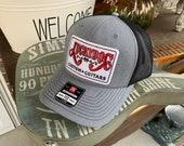 Lucky Dog Guitars grey black Deluxe Trucker Mesh Ball Cap Hat w/ structured crown - Regular size - USA old school vintage truck stop