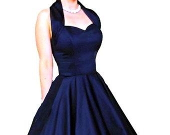Isobella, 50s Full Circle Halterneck Dress by Elizabeth Stone
