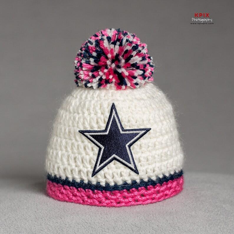 brand new dd10c 43450 Dallas Cowboys baby girl hat