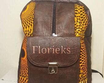 Ankara, African Print Backpacks. Laptop Bag
