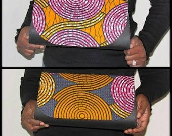 African Print Clutch, Ankara Clutch (LAC3)