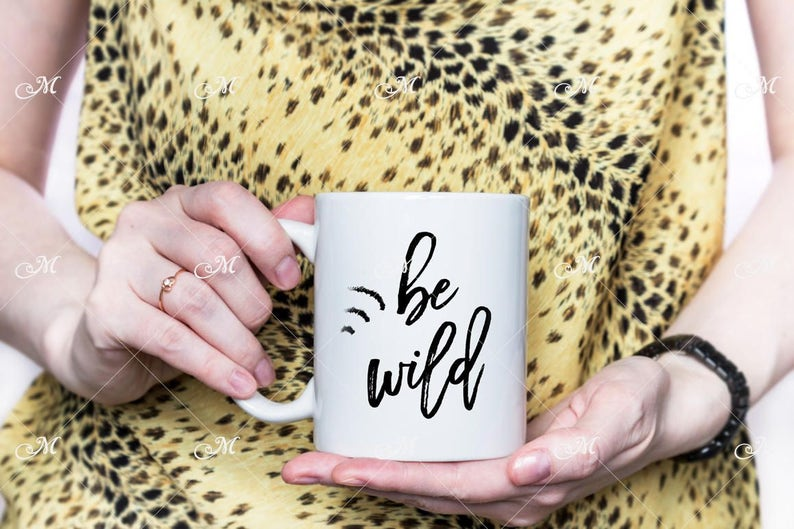 Be Wild Mug Mock-up PSD