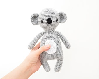 CROCHET PATTERN in English - Sweet Koala - Sweet Dreams Collection - 9.5 in./24 cm. tall - Amigurumi Animal - Instant PDF Download