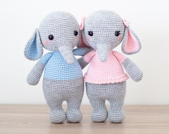 Elephant Nina is super cute. Crochet with 100% cotton, so can be ... | 270x340