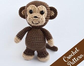 Crochet Pattern Martin the Friendly Monkey - Amigurumi Monkey - Animal Crochet - Crochet Toy - Instant PDF Download
