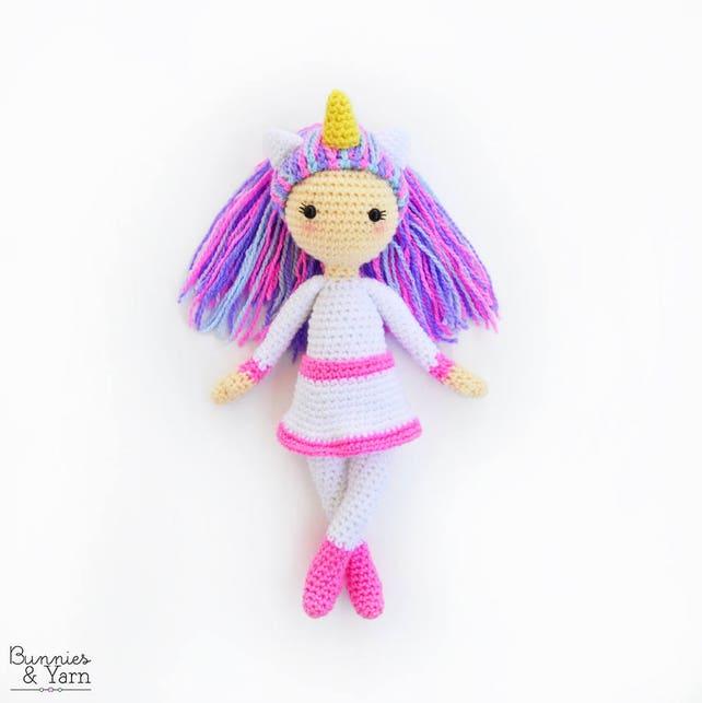 Patrón de Crochet en Inglés Linda la Muñeca Unicornio   Etsy