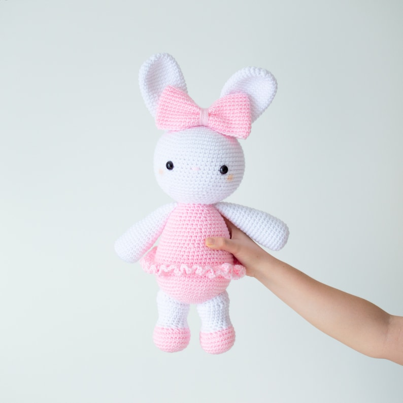 CROCHET PATTERN in English  Laurie the Ballerina Bunny  image 0