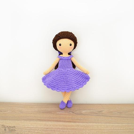 Patrón de Crochet en Inglés Muñeca Mia 28 cm./11 in. | Etsy