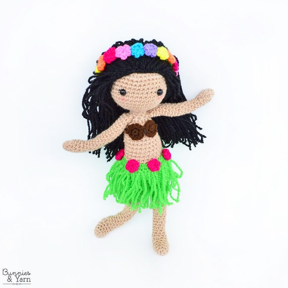 Patrón de Crochet en Inglés Hannah la Muñeca Hawaiana 28 | Etsy