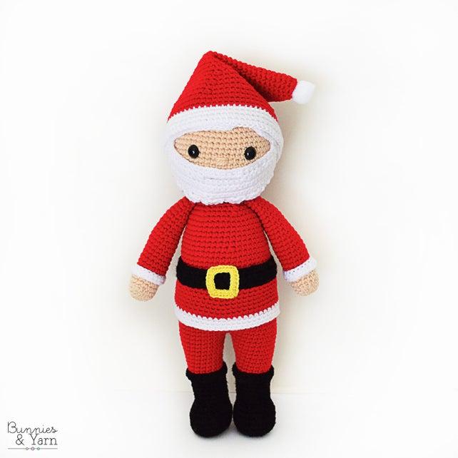 Patrón de Crochet en Inglés Santa Claus Papá Noel 40 | Etsy