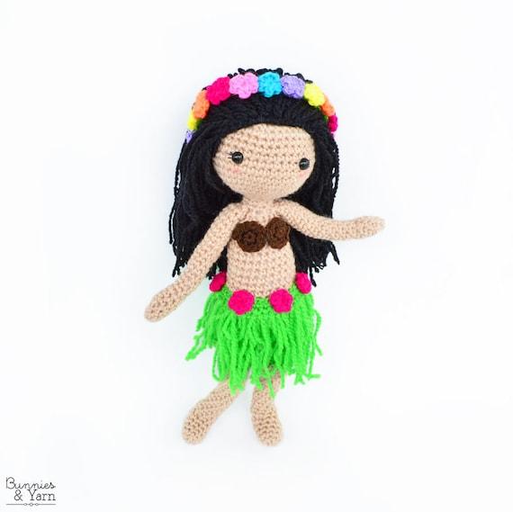 Patrón de Crochet en Inglés Hannah la Muñeca Hawaiana 28   Etsy