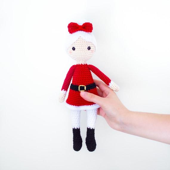 Patrón de Crochet en Inglés Señora Claus 28 cm./11 in. | Etsy