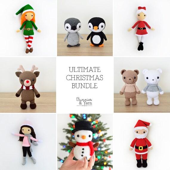 Ocho Patrones de Crochet en Inglés Combo de Navidad | Etsy