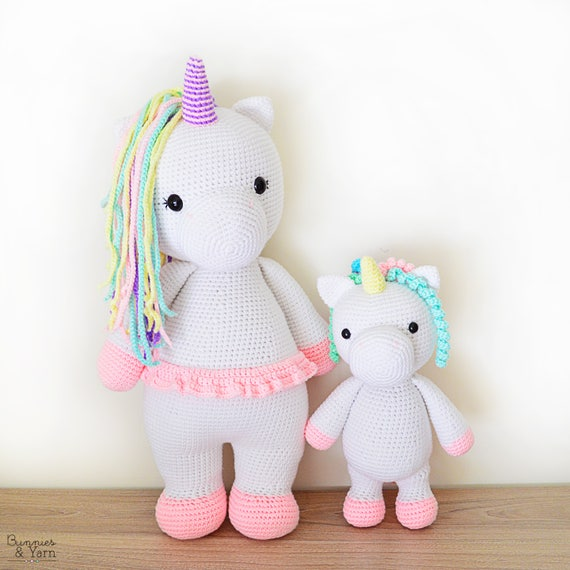 TWO CROCHET PATTERNS in English Betsy the Big Unicorn and | Etsy