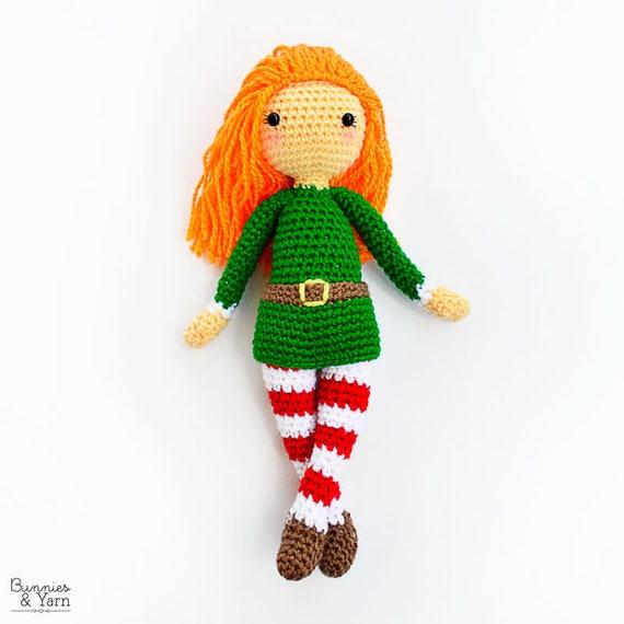 Patrón de Crochet en Inglés Edna la Duende 30 cm./12 in. | Etsy