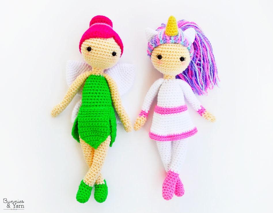 Dos Patrones de Crochet en Inglés Linda la Unicornio y | Etsy
