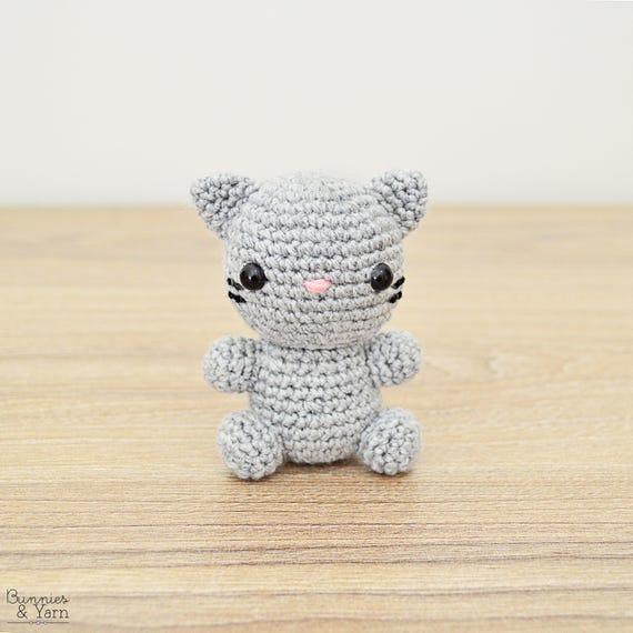Patrón de Crochet en Inglés Gato Bebé 12 Babies | Etsy