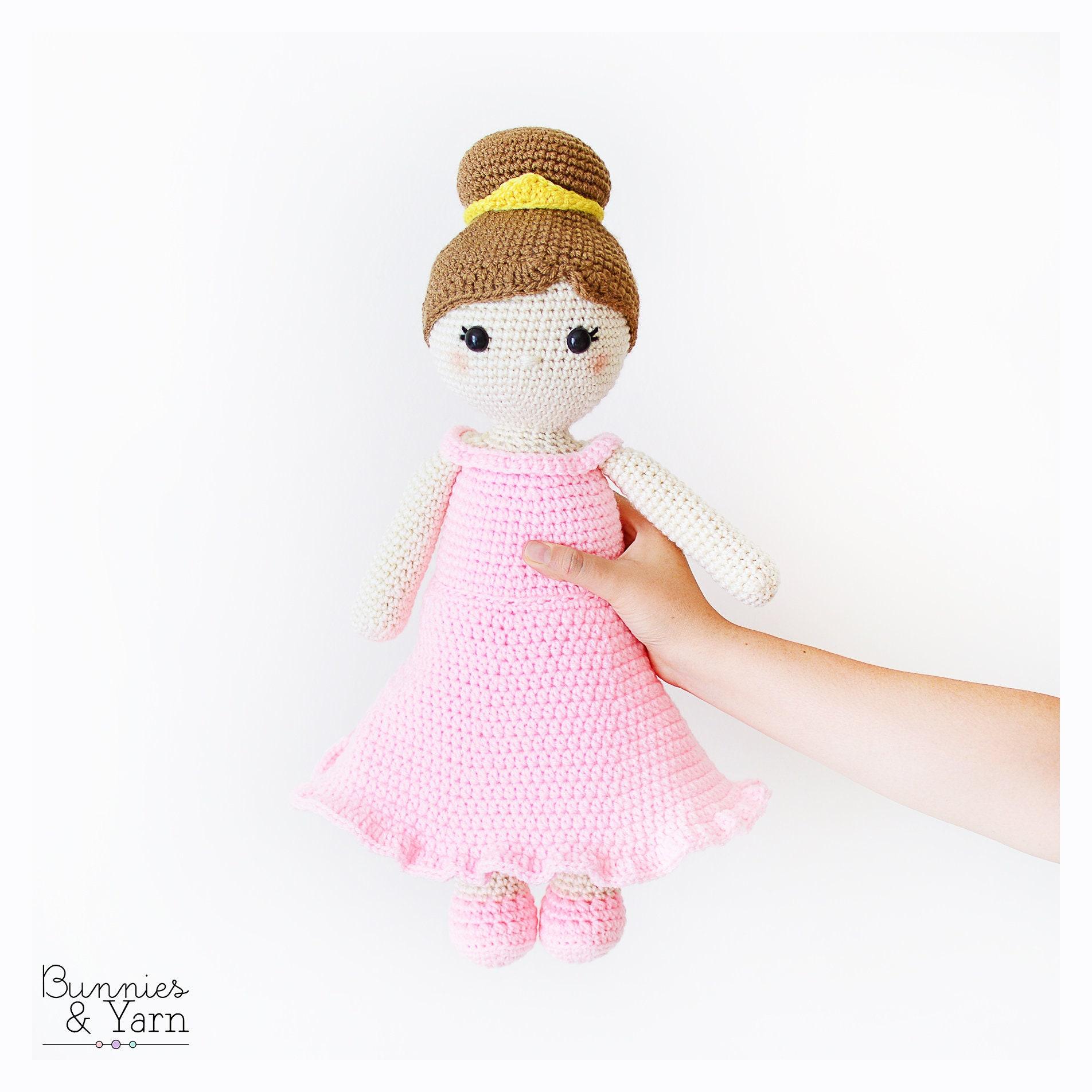 Patrón de Crochet en Inglés Lillian la Muñeca Princesa 45   Etsy