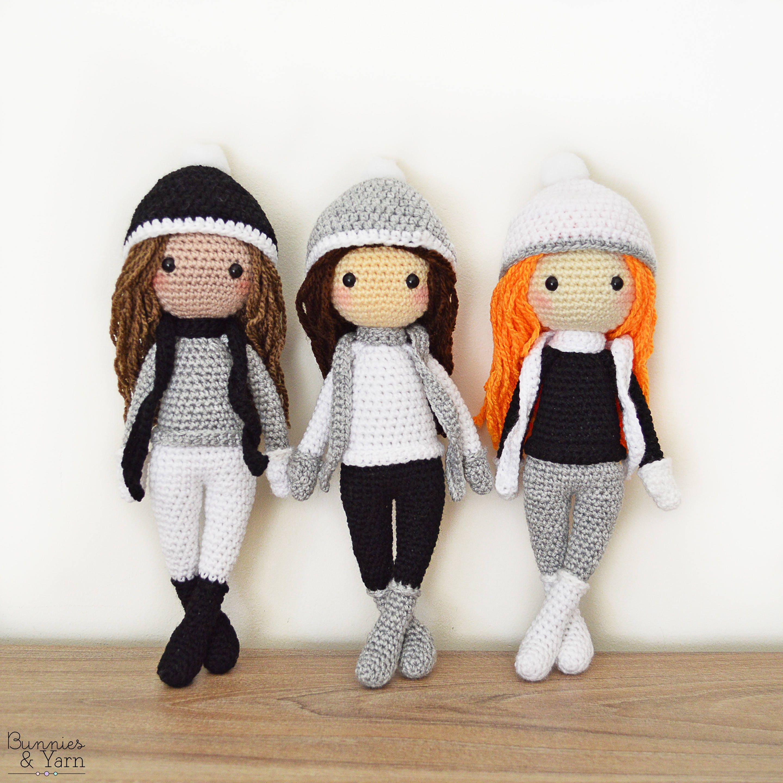 Patrón de Crochet en Inglés Sarah la Muñeca de Invierno 28   Etsy