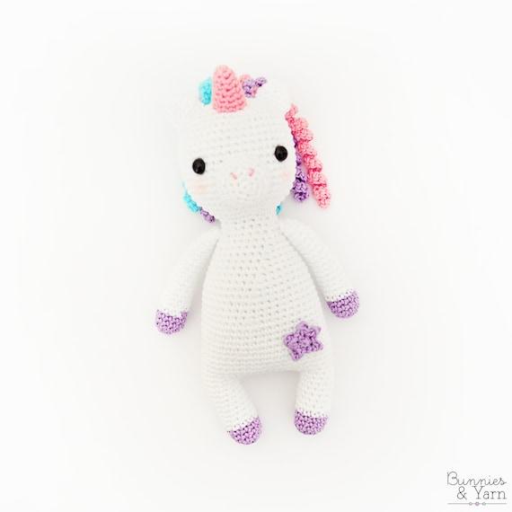 Patrón de Crochet en Inglés Dulce Unicornio Colección | Etsy