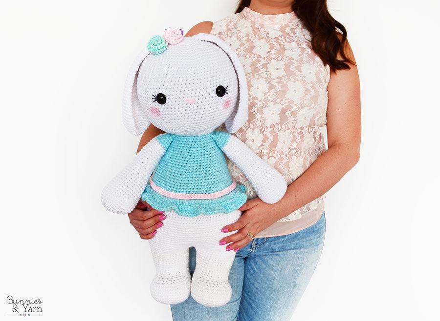Patrón de Crochet Sophie la Coneja Amigable 55 cm./21.5   Etsy