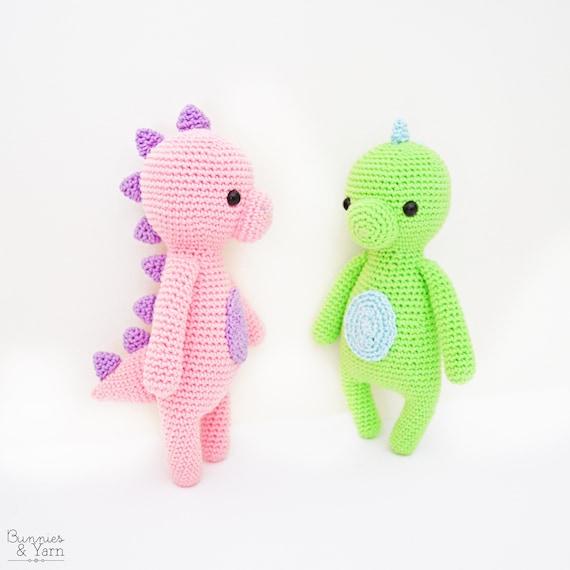 Patrón de Crochet en Inglés Dulce Dinosaurio Colección | Etsy
