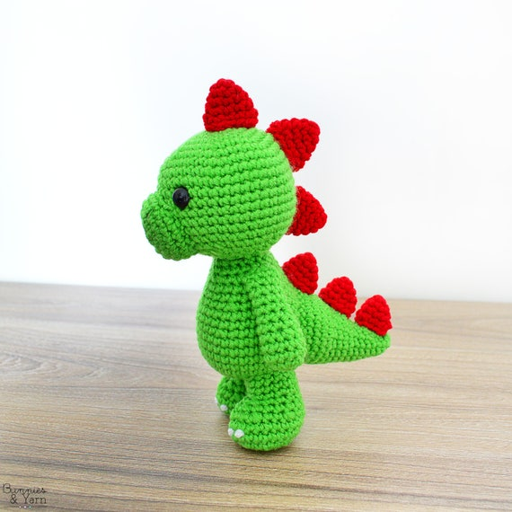 Patrón de Crochet en Inglés Tim el Dinosaurio Encantador | Etsy