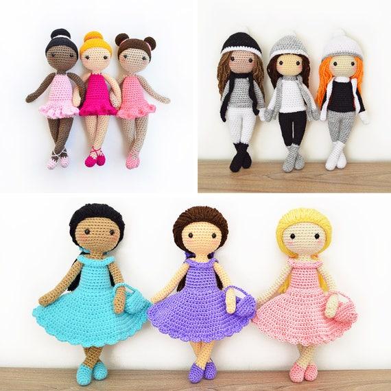 Tres Patrones de Crochet en Inglés Tracey Bailarina Sarah | Etsy