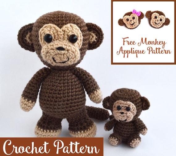 Crochet Pattern Monkey Lovers Bundle Amigurumi Monkey Etsy