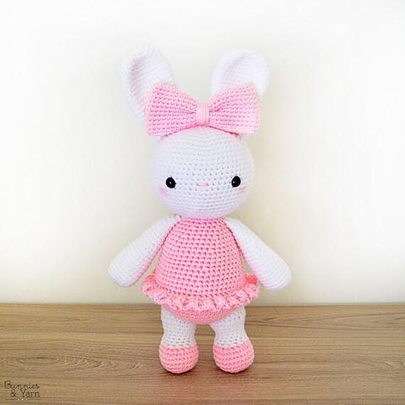 Patrón de Crochet en Inglés Laurie la Coneja Bailarina 35 | Etsy