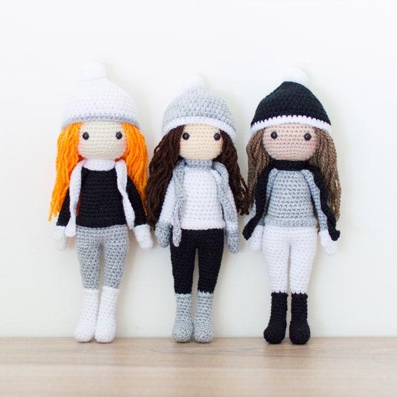 Tres Patrones de Crochet Edna el Duende Sarah la Muñeca de | Etsy