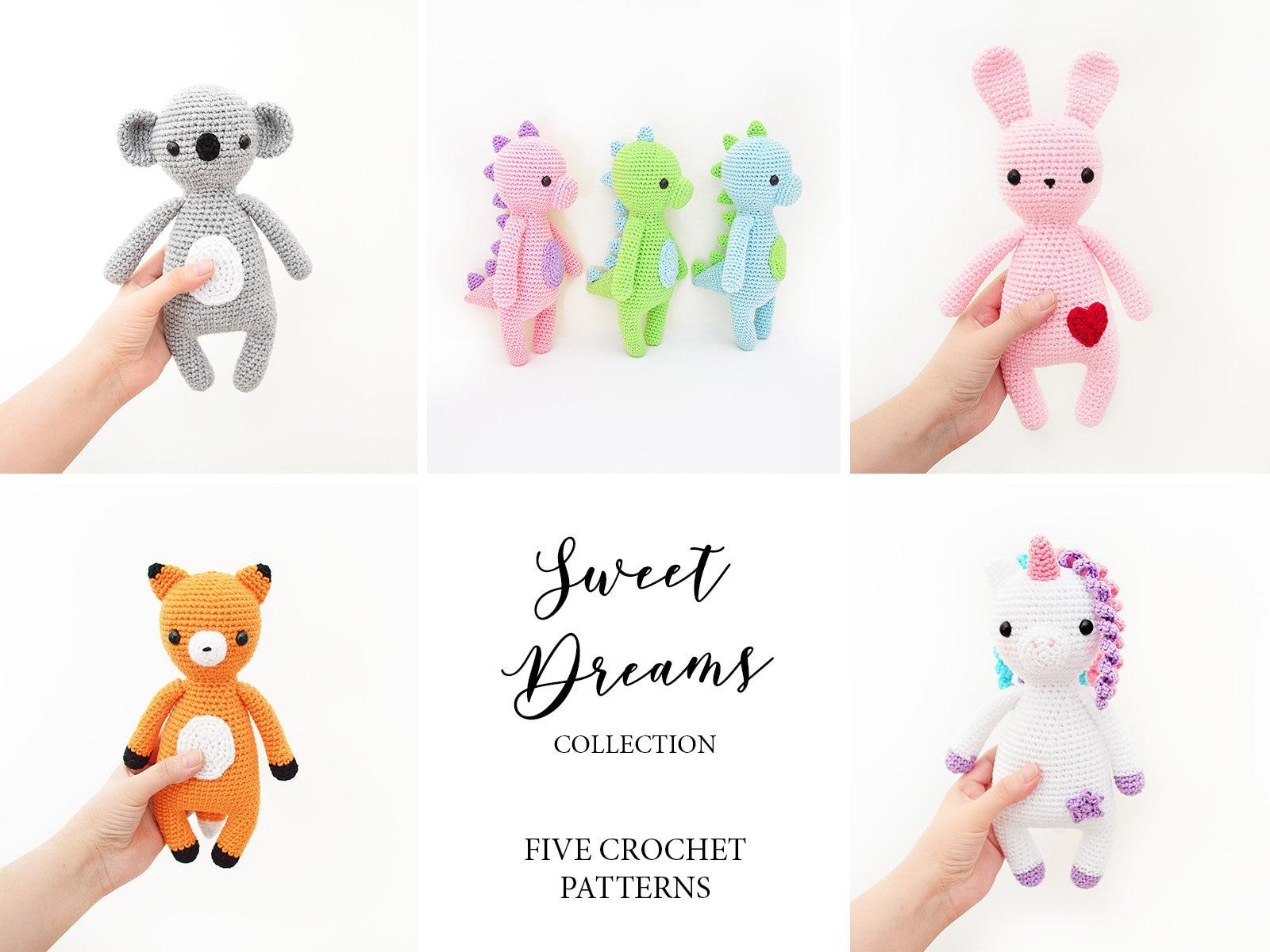 Cinco Patrones de Crochet en Inglés Unicornio Conejo | Etsy