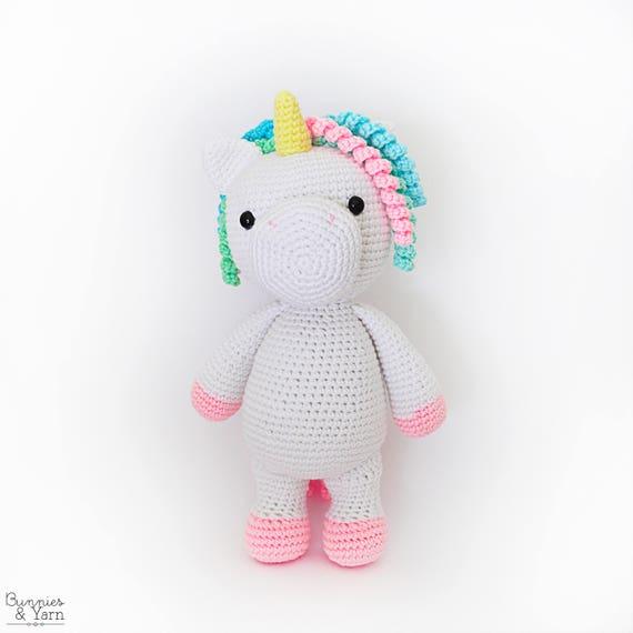 Dos Patrones de Crochet en Inglés Mimi Unicornio Amigable y   Etsy
