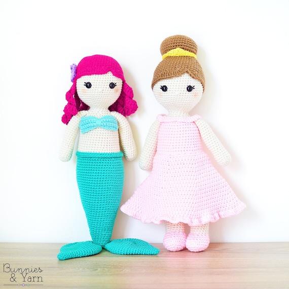 Dos Patrones de Crochet en Inglés Anna la Sirena y Lillian | Etsy