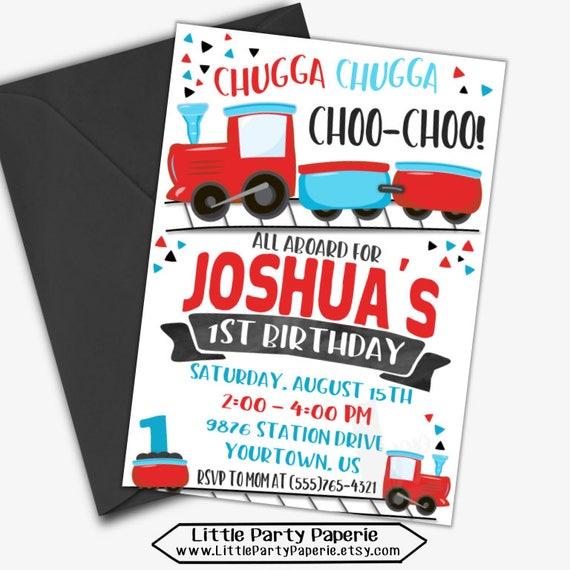 Choo Train Birthday Invitation