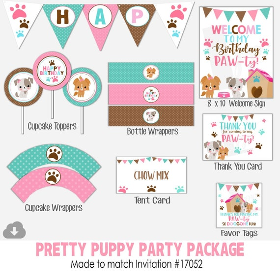 INSTANT DOWNLOAD Puppy Party Package