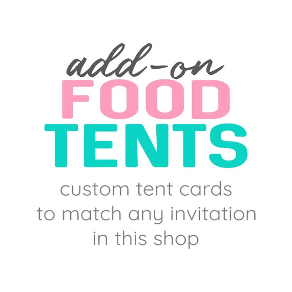 Match Any Shop Design Custom Editable Food Buffet Card