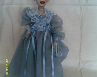 Bella-Blu an original OOAK art doll.