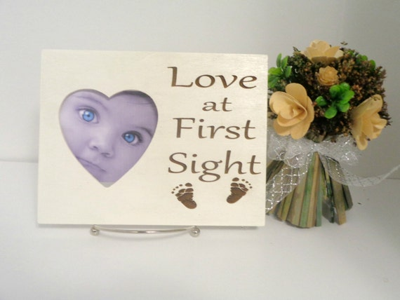 Love at First Sight Picture Frame, Ultrasound Frame, New Parents ...