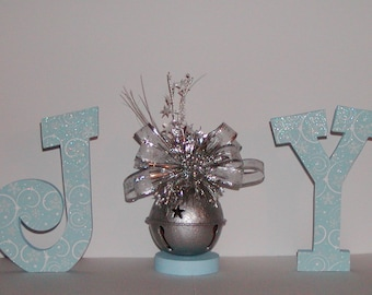 Christmas Decor -JOY- Holiday wooden letters