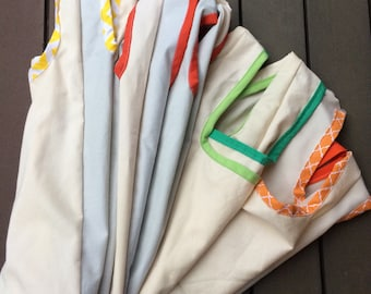 5945923ee9 Reusable market tote bag set,cloth shopping bag, choose you colors  environmentally friendly grocery bag 5 pack, free shipping