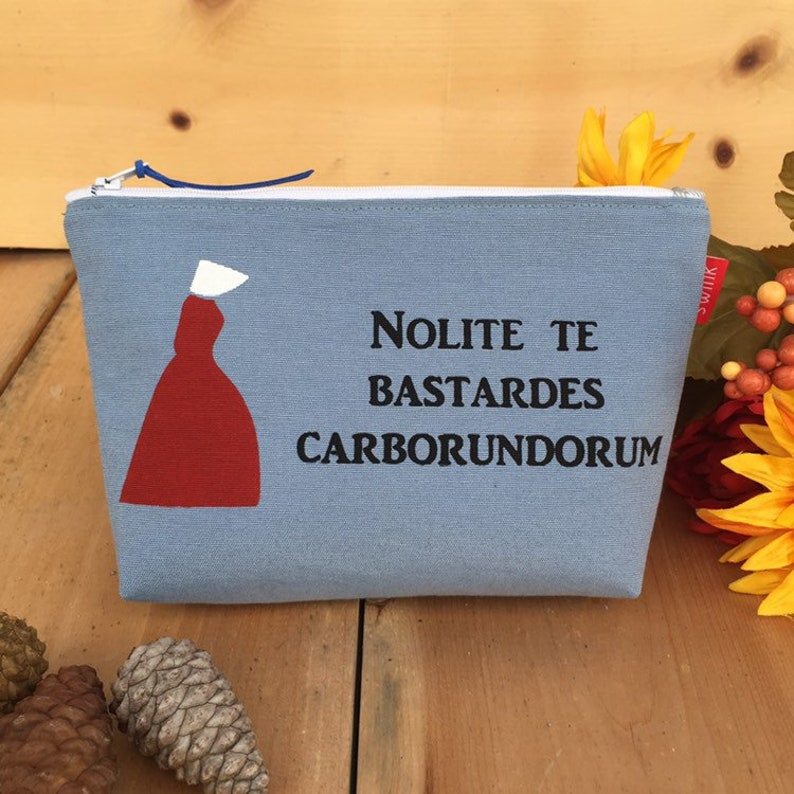 NOLITE TE BASTARDES CARBORUNDORUM Handmaid/'s STOFFTASCHE EINKAUFSTASCHE The Tale