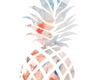 "Ananas 6.40""x9.40""(print of my watercolor painting)"