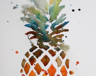 "Original watercolor 5.5""x10"" / 14x26cm"