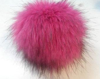 Size L faux fur pom pom 5.5 inches/14 cm